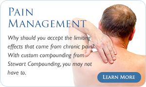 Pain Management medications & treatments - Why should you accept the limiting effects that come fro chronic pain?  With custom compounding for Stewart Compounding, you may not have to.